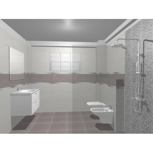 Model de design pentru baie colectia de gresie si for Gresie si faianta baie