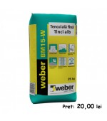 Tencuiala fina alba Weber Tinci BM15W 25kg