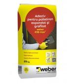 Adeziv pentru polistiren expandat si grafitat Weber P39 max2 25kg