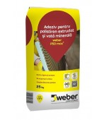 Adeziv pentru polistiren extrudat si vata minerala Weber P50 max2 25 kg