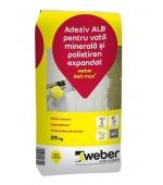 Adeziv alb pentru vata minerala si polistiren expandat Weber R40 max2