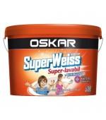 Vopsea superlavabila de interior Oskar Superweiss Antimucegai 8,5L