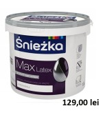 Vopsea superlavabila latex pentru pereti si tavane Sniezka MAX 10L