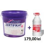Vopsea lavabila de interior cu ioni de argint Zertifikat Plus 15L+ amorsa 3l