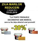 -20% la TOATE  finisajele decorative San Marco doar pe 23.03.2018
