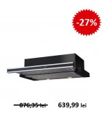 Hota telescopica Pyramis Silver Sliding Black&Inox Touch 60 cm