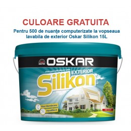 Vopsea lavabila colorata (var lavabil colorat) de exterior Oskar Silikon 15L