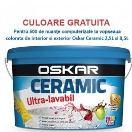 Vopsea superlavabila colorata (var superlavabil colorat) de interior si exterior Oskar Ceramic 2,5L si 8,5L, 15L