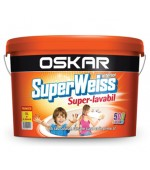 Vopsea superlavabila colorata (var superlavabil colorat) de interior Superweiss Oskar 2,5L, 8,5L si 15L