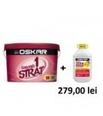 Vopsea lavabila de interior Oskar Crema 1 strat 15L+Amorsa Zero Mucegai 4L GRATIS