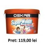Vopsea superlavabila interior Oskar Superweiss 8.5l+Amorsa 2l